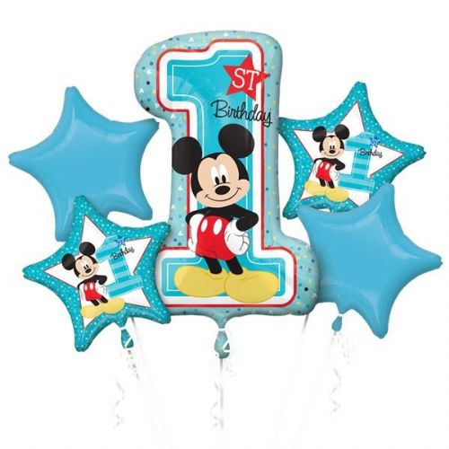 Mickey Mouse 1st Birthday Balloon Bouquet (each)